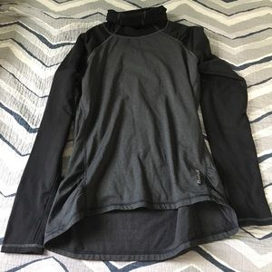 Reebok black charcoal warm up top Size M